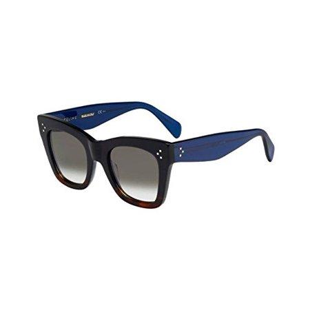 03a1dc7ddf Celine - Celine Sunglasses CL 41090 S Sunglasses 0QLT Z3 Havana Blue 50mm -  Walmart.com