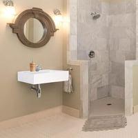 "Aquarior 18"" Wall Mount Sink Ceramic Sink Washing Basin for Bathroom with Drain"