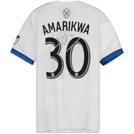 best website a8936 f43a8 Quincy Amarikwa Montreal Impact Autographed Match-Used White #30 Jersey vs.  New England Revolution on October 28, 2018 - Fanatics Authentic Certified