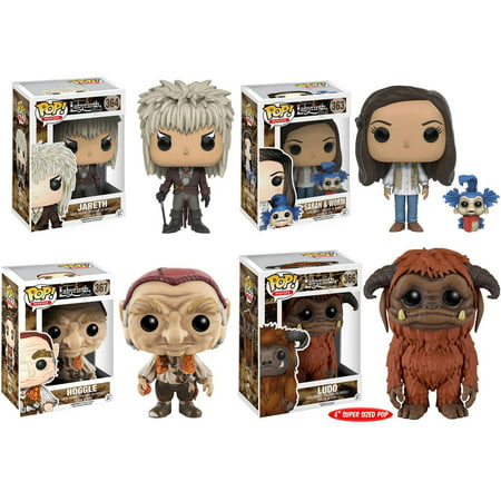 Funko Labyrinth: POP! Movies Collector's Set, Jareth, Hoggle, Sarah (with Worm), 6