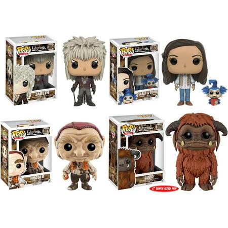 Funko Labyrinth: POP! Movies Collector's Set, Jareth, Hoggle, Sarah (with  Worm), 6