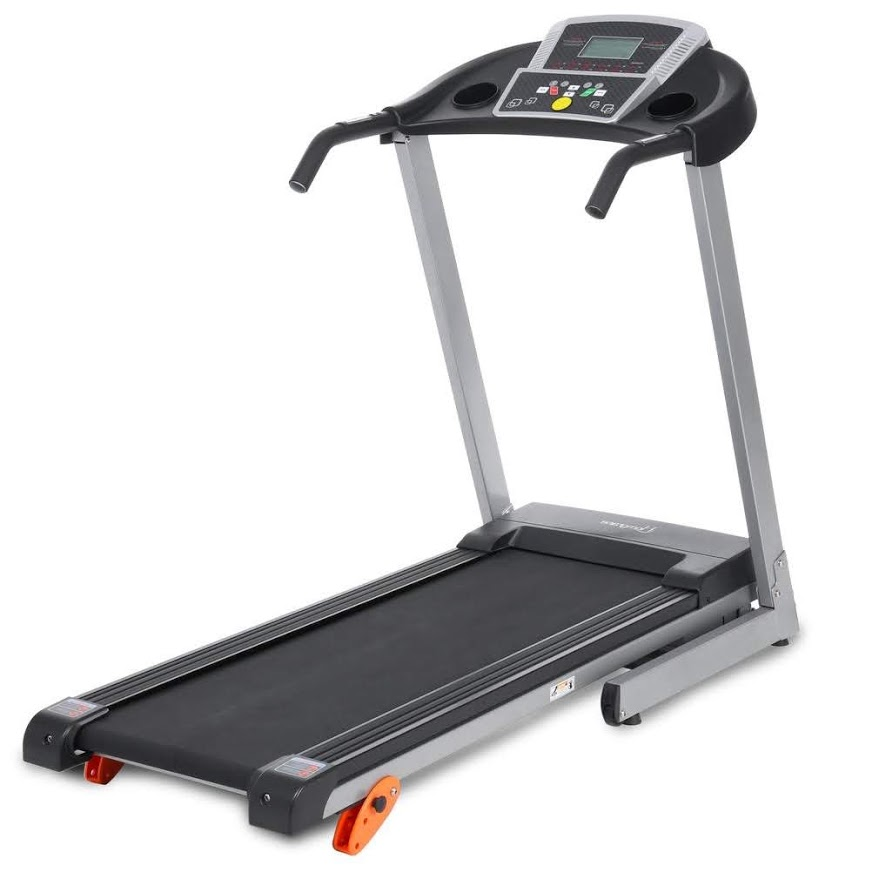 Folding Electric Treadmill Easy Assembly Power Motorized Running Jogging Machine with Air Pressure Bar and Safety lock