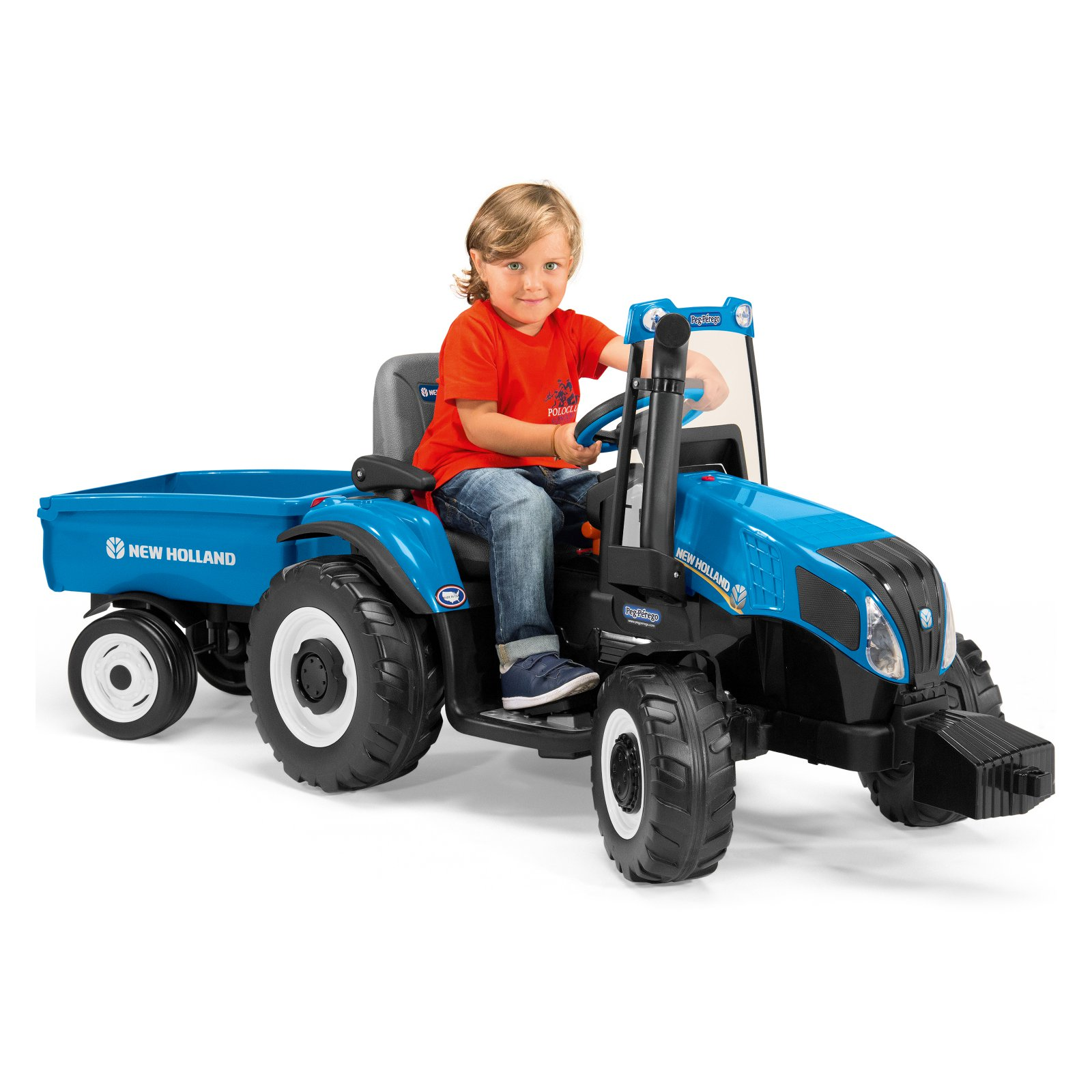 Peg Perego New Holland Tractor Battery Powered Riding Toy by