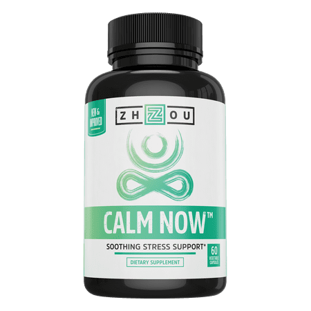Zhou Nutrition Calm Now Soothing Stress Formula Vegetarian Capsules, 60 Ct