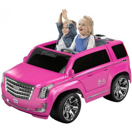 Power Wheels Barbie Cadillac Escalade - Walmart.com