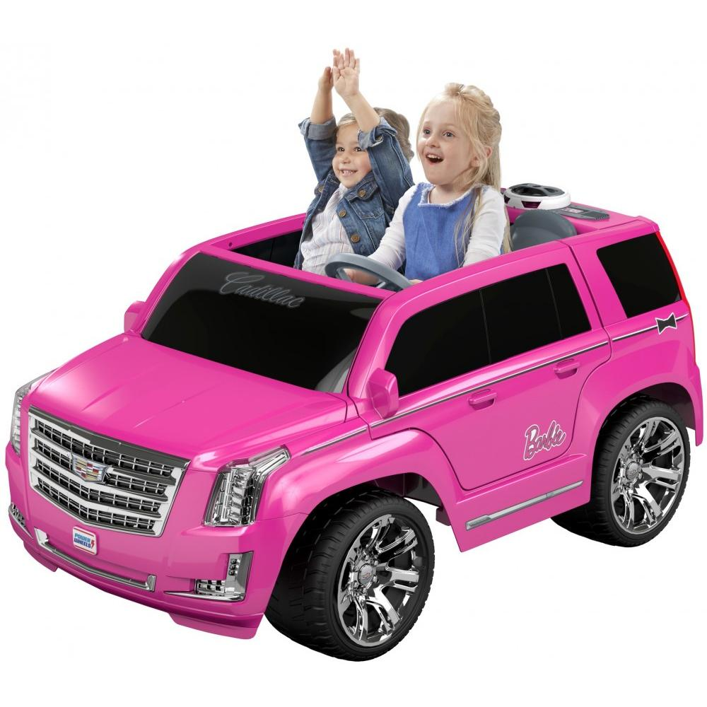 Power Wheels Barbie Cadillac Escalade Ride-On Vehicle, Pink