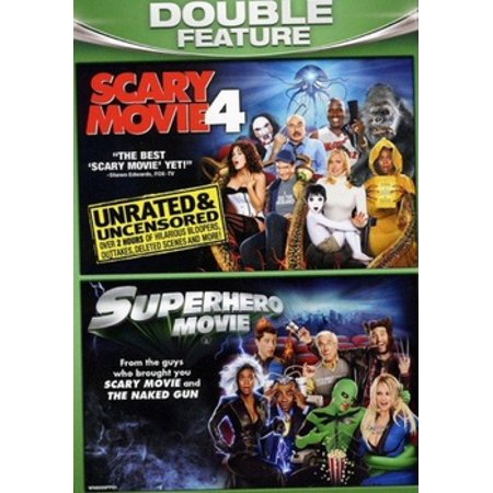 COMEDY DOUBLE FEATURE (DVD) (SCARY MOVIE 4/SUPERHERO MOVIE) (DVD) (25 Scary Movies To Watch On Halloween)