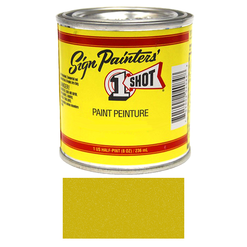1/2 Pint 1 Shot METALLIC GOLD Paint Lettering Enamel Pinstriping & Graphic Art