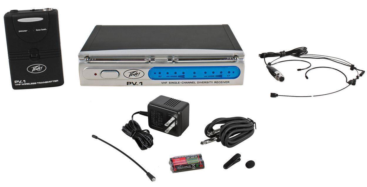 Peavey PV-1 U1 BHS 923.700MHZ UHF Series Wireless Headset Microphone Mic System by Peavey