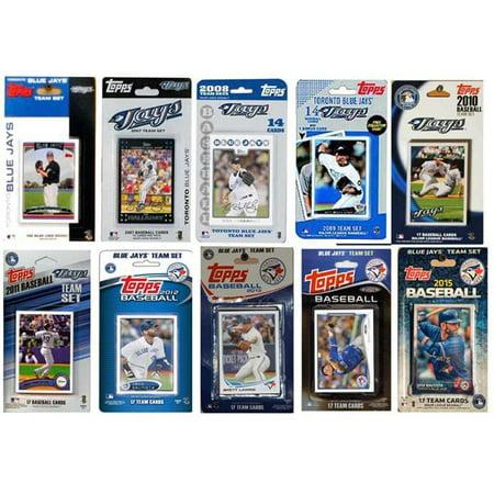 Toronto Blue Jays License Plate - CandICollectables JAYS1015TS MLB Toronto Blue Jays 10 Different Licensed Trading Card Team Sets