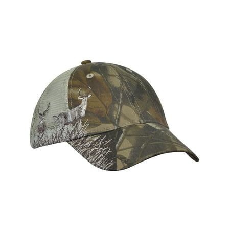 KC Caps Unisex Adjustable Hunting Cap Camo Hat with Air Mesh Back (Mesh Back Hat Cap)