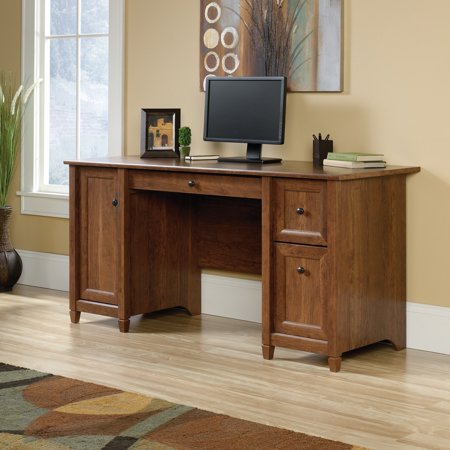 Sauder Edge Water Computer Desk, Multiple Finishes Computer Credenza Sauder Office Furniture
