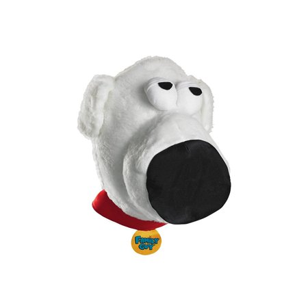 Family Guy Brian Griffin Dog Adult Costume Plush Headpiece - Fat Guy Costumes