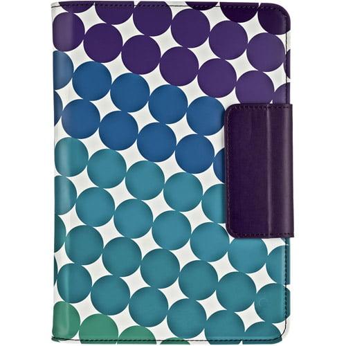 M-Edge Stealth Series Protective Folio Case Cover for iPad Mini - Polka Dots
