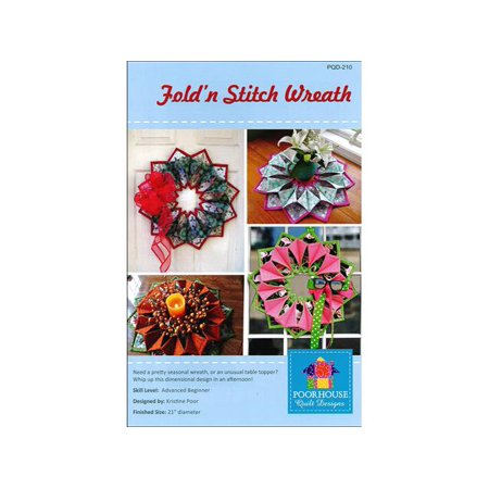 Poorhouse Quilt Designs Fold'n Stitch Wreath Ptrn](Halloween Wreath Designs)