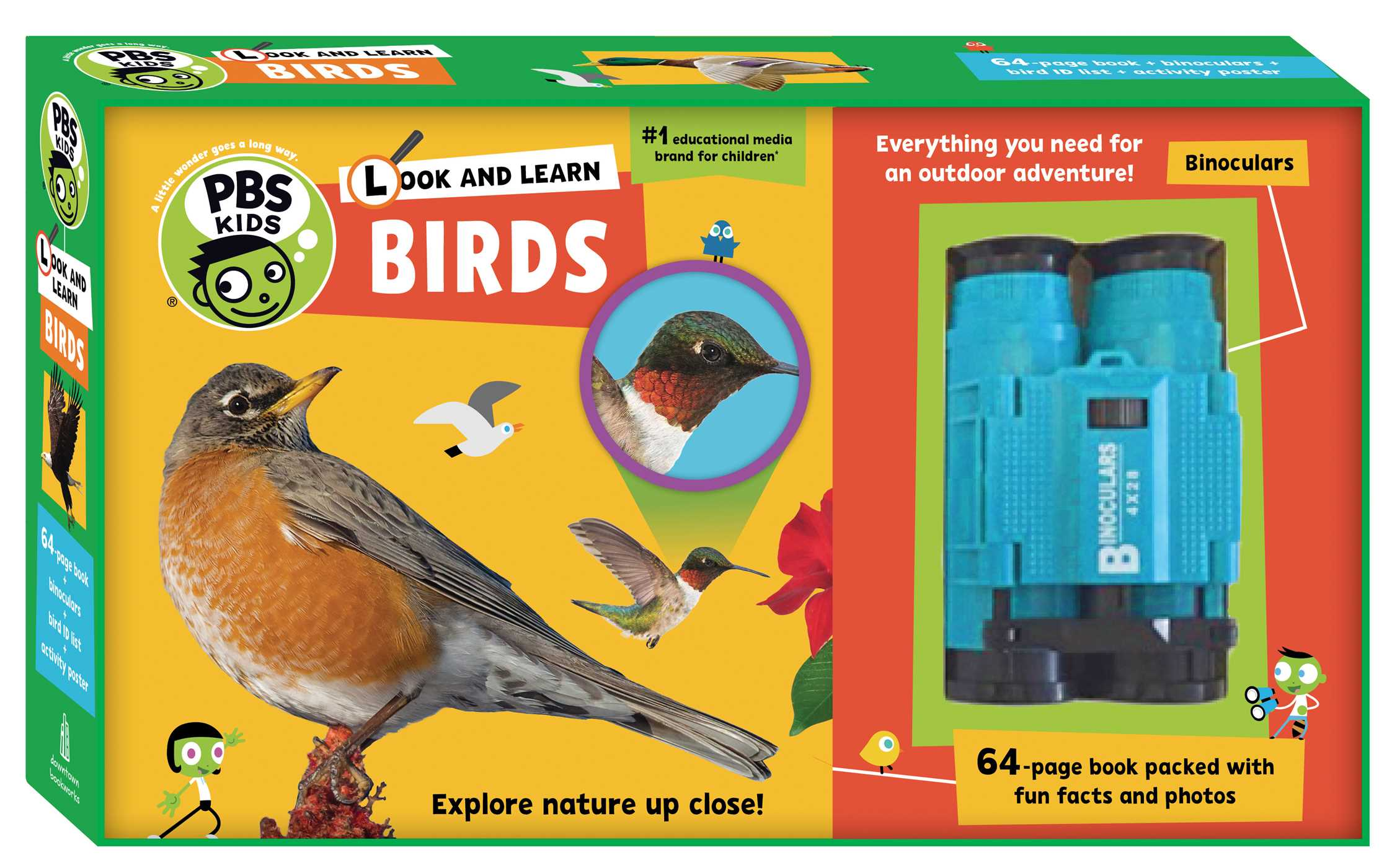 Look and Learn Birds (Book #7 of PBS Kids) By Sarah Parvis