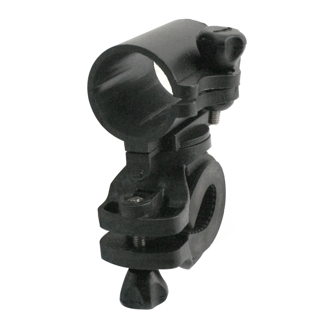 Bicycle Outdoor Black Flashlight Torch Mounting Holder Rack Clamp