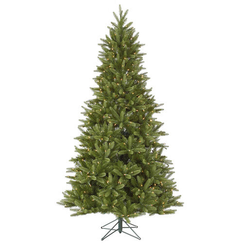 Vickerman Bradford 7.5' Green Pine Artificial Christmas Tree with 550 Dura-Lit Multi Lights with Stand