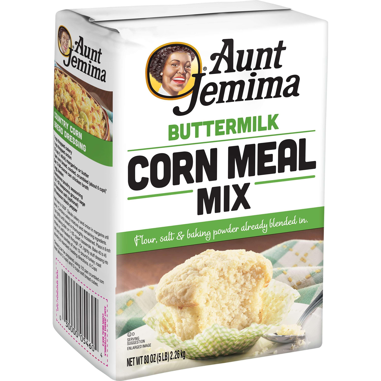 Aunt Jemima Buttermilk White Corn Meal Mix 5 lb Bag Walmart