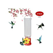 EJWOX Hummingbird Feeder with Hanging Wires-Easy Cleanup/Leakage Prevent for Outdoors(4 Pack,2.3 oz)