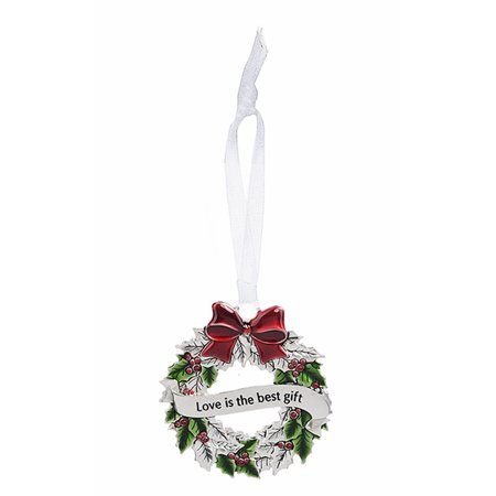 Christmas Wreath Ornament: Love is the Best Gift - By Ganz