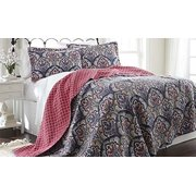 100% Cotton 2 pc reversible quilt sets Sanya Twin
