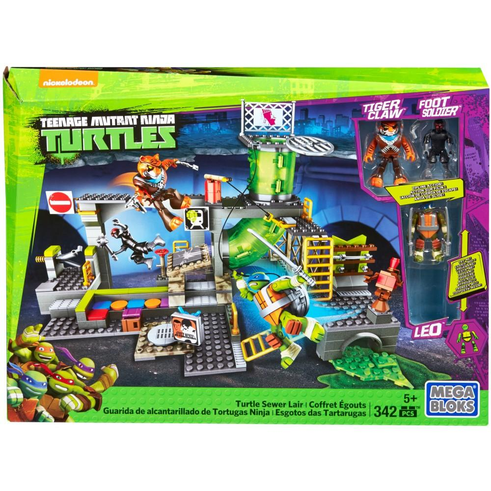 Mega Bloks Teenage Mutant Ninja Turtles Sewer Lair DMX55