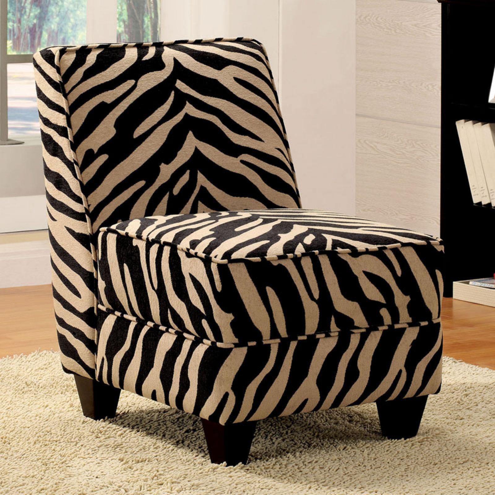 Acme Furniture Makala Accent Chair Zebra Fabric Walmart Com