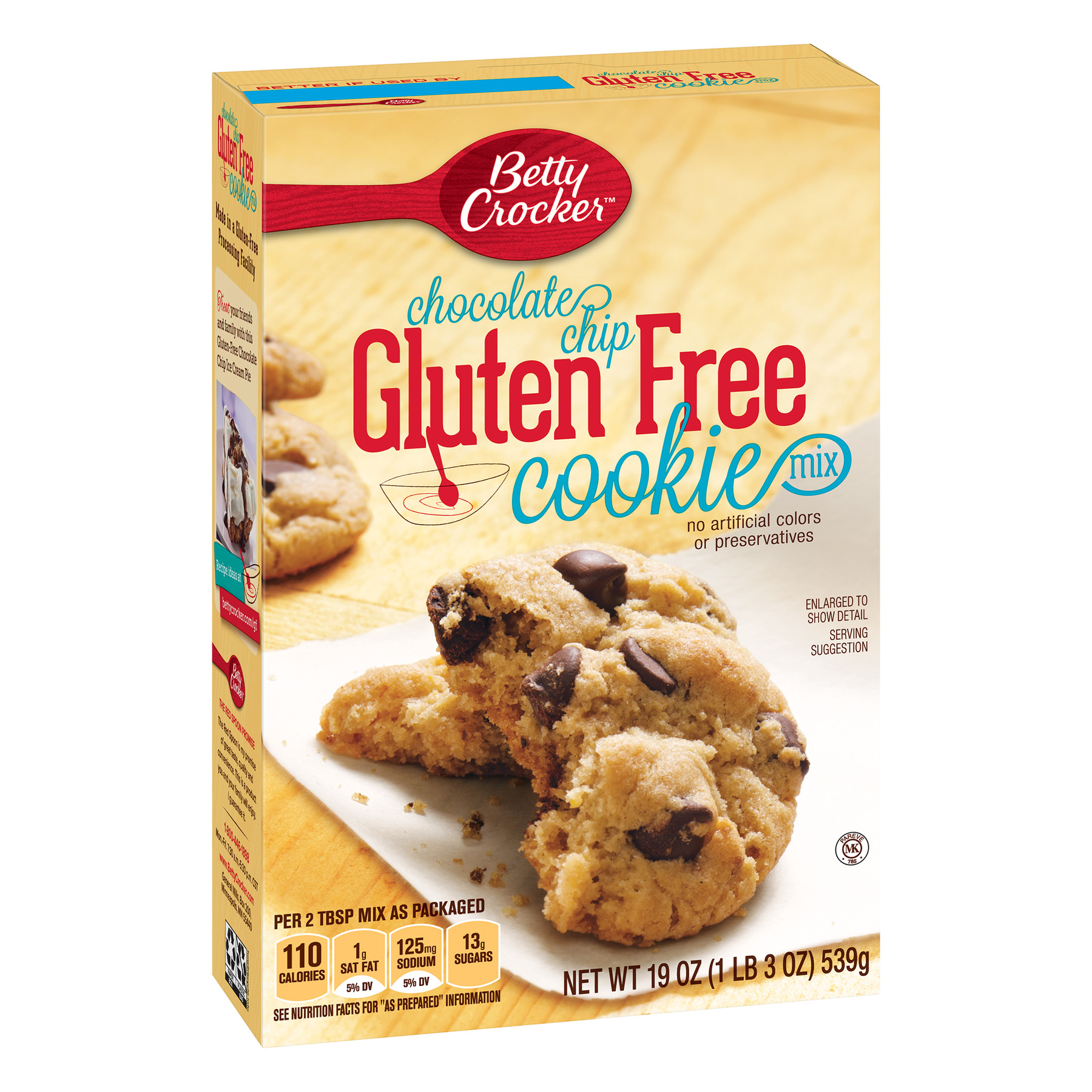 Betty Crocker Gluten Free Chocolate Chip Cookie Mix, 19 oz