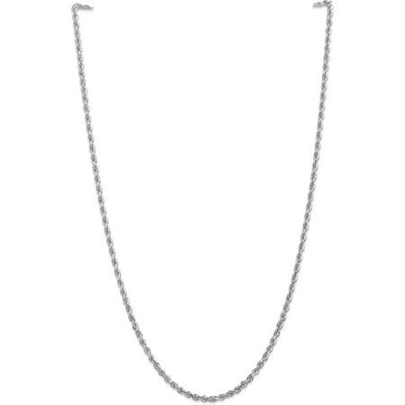 10kt White Gold 3.35mm D/C Quadruple Rope Chain