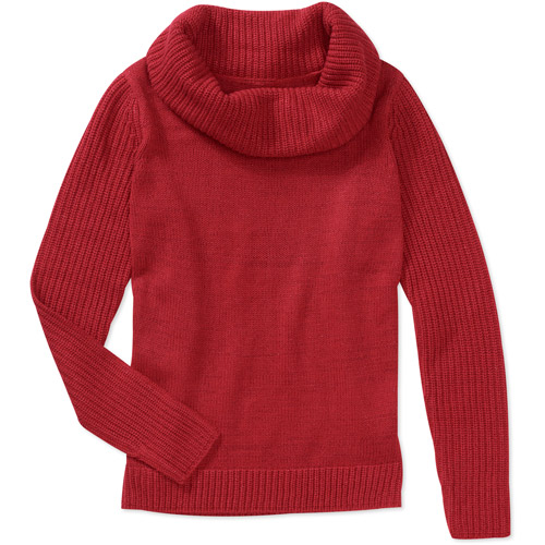 Faded Glory Women's Plus-Size Metallic Cowl Neck Sweater