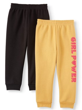 Garanimals Graphic Sweatpants & Solid Sweatpants, 2pc Multipack (Toddler Girls)