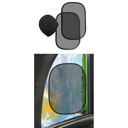 2 Pack Car Sunshade Car Window Shade for Baby Dog Car Seat Windshield Sun Shade with Fabric Static Cling