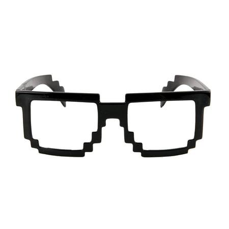 Pixel-8 Black and Clear Glasses Halloween Accessory](Halloween Pixel Art)