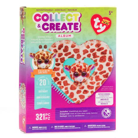 Album Kit Stickers - Ty Beanie Boo Sticker Album Gift Pack Girafe