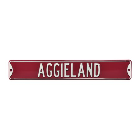 """Texas A&M Aggies 6"""" x 36"""" College Ave Street Sign - Maroon - No Size"""