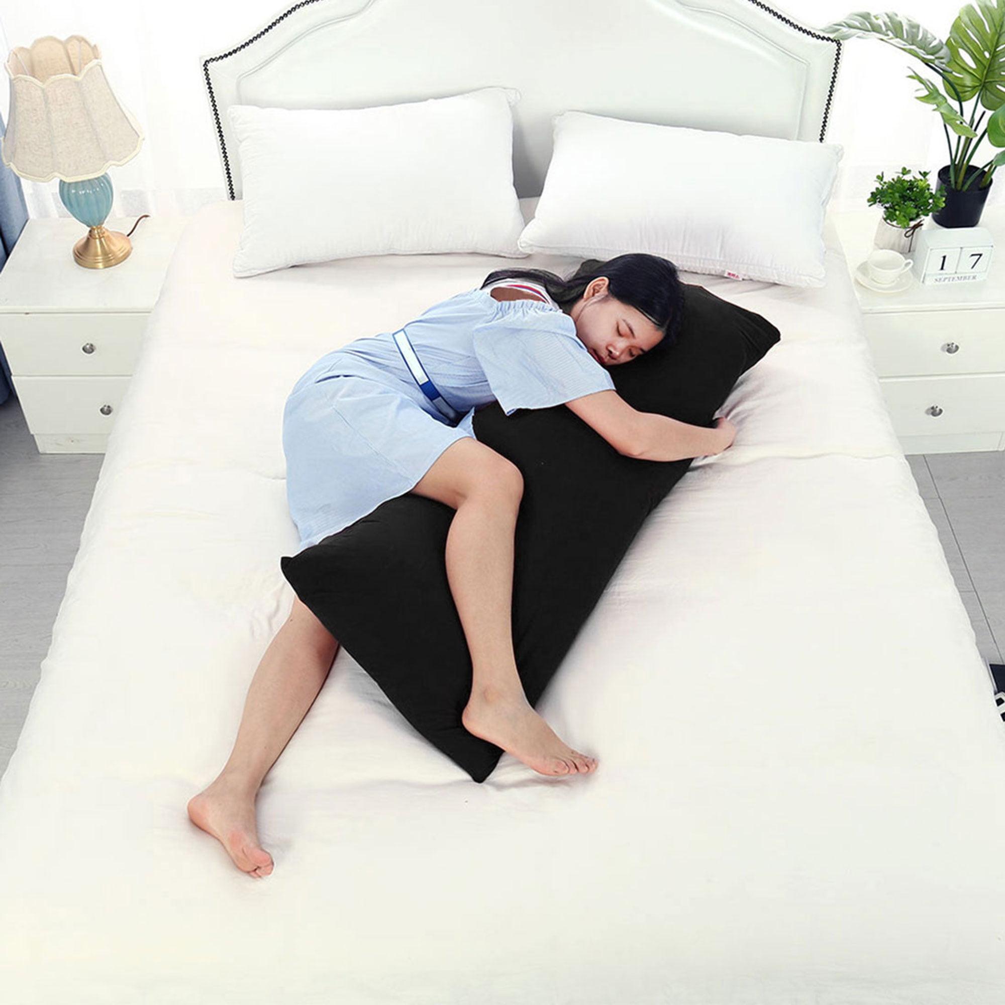 """Body Pillow Case Microfiber Long Bedding Covers for Body Pillows Black 20""""x60"""" - image 1 de 7"""