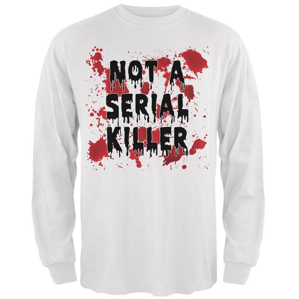 Halloween Not a Serial Killer Blood Splatter Mens Long Sleeve T Shirt