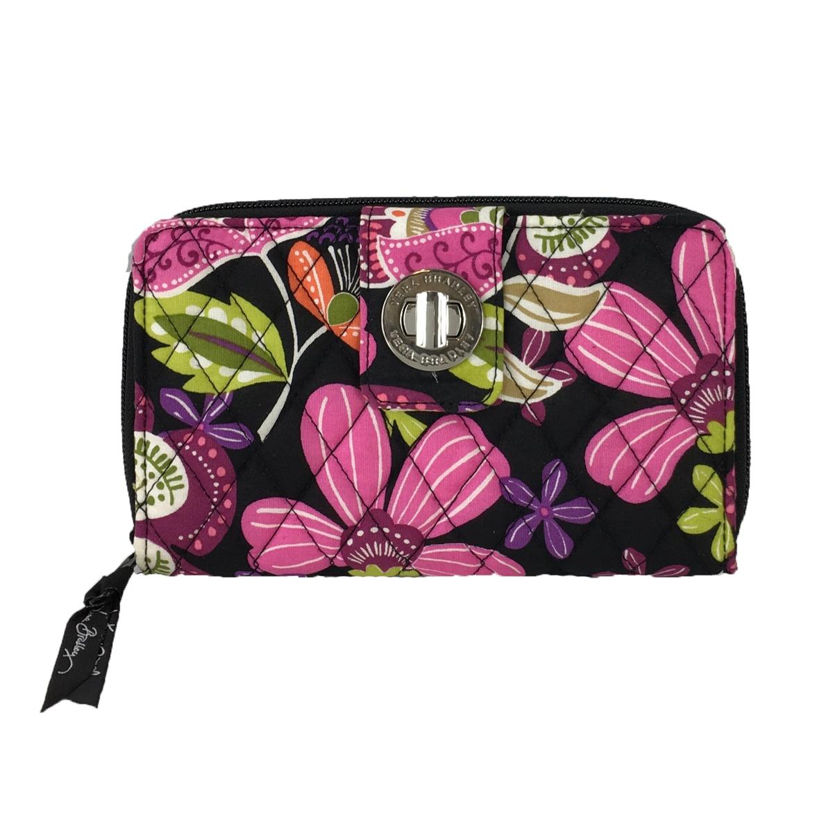 Vera Bradley Turnlock Wallet, Pirouette Pink