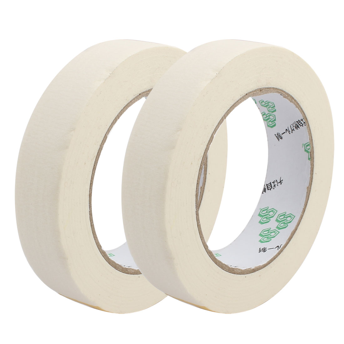 2PCS 25mm Width Adhesive Paper Painting Writing Decoration Tape White 50M Length