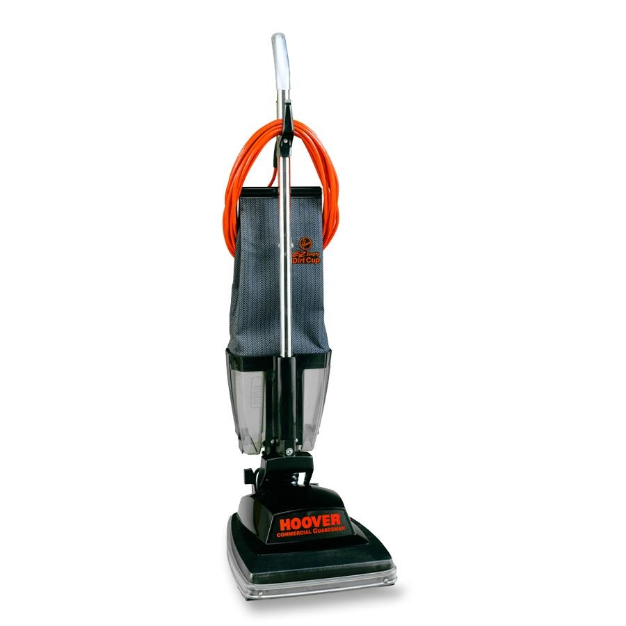 "Hoover Commercial Guardsman Bagless Upright Vacuum, 12"" Cleaning Path"