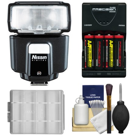 Nissin Digital i40 Speedlite Flash with Batteries & Charger + Kit for Fuji X-A1, X-E1, X-E2, X-M1, X-T1, X-Pro1