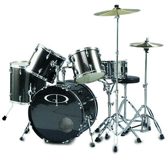 "GP Percussion ""Performer"" 5 Piece Full Size Drum Set"