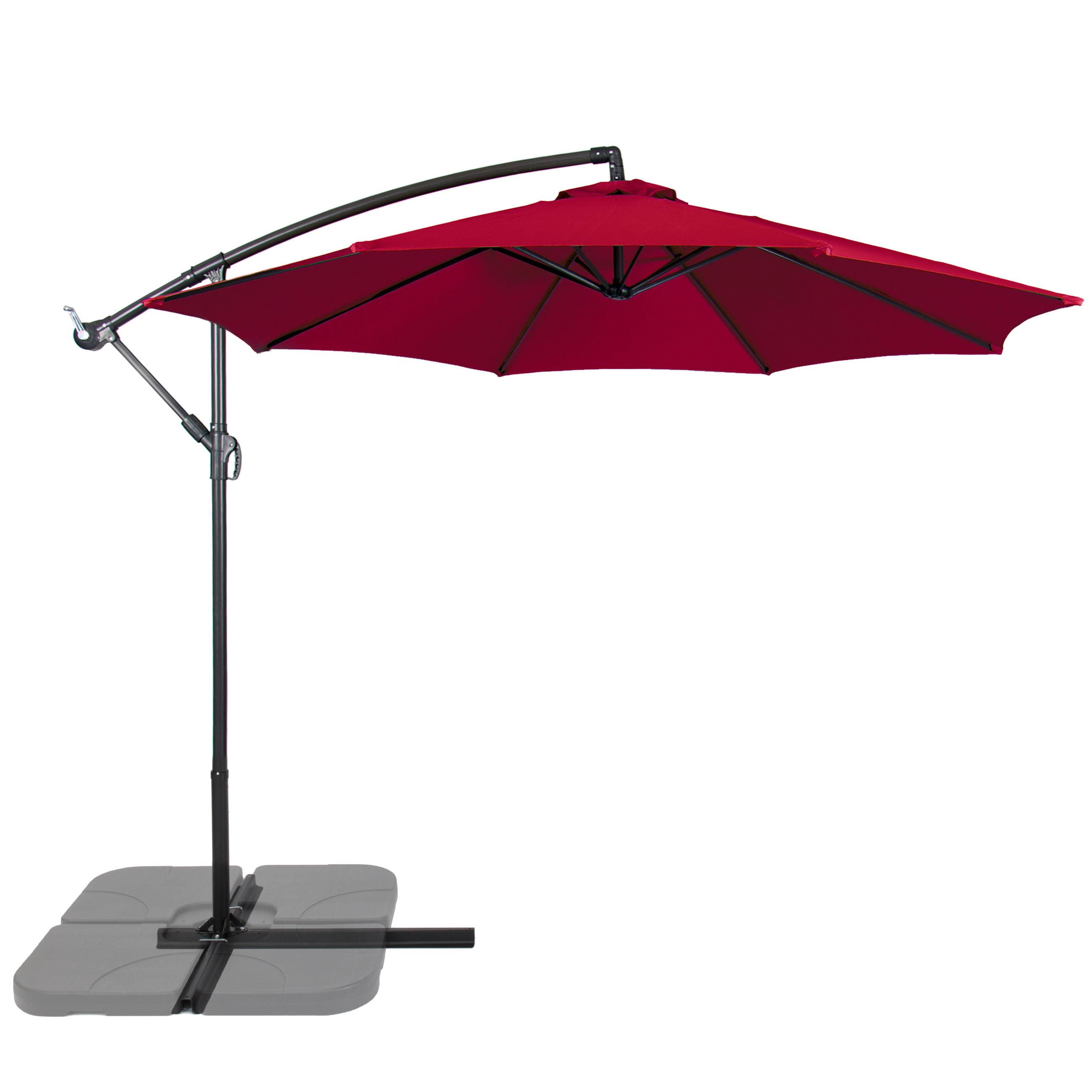 Patio Umbrella Offset 10FT Hanging Outdoor Market Umbrella New - Multiple Colors