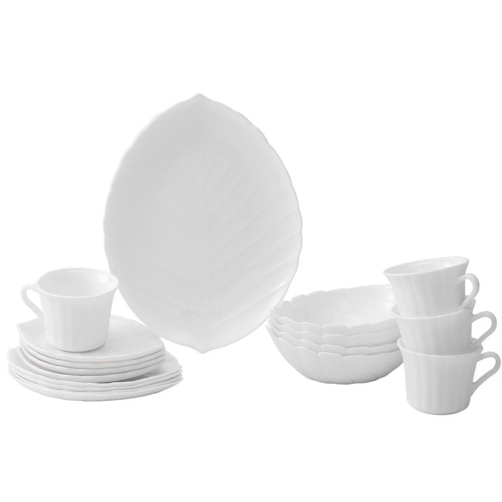 Matashi Vine Collection Opal 8-Piece Glassware Dinnerware Set