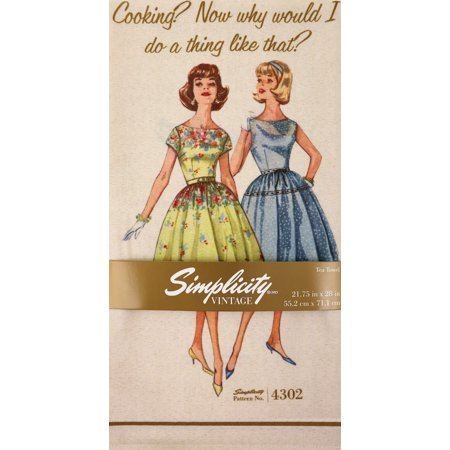"Simplicity Vintage Tea Towels 21.75""X28""-Cooking? - image 1 of 1"