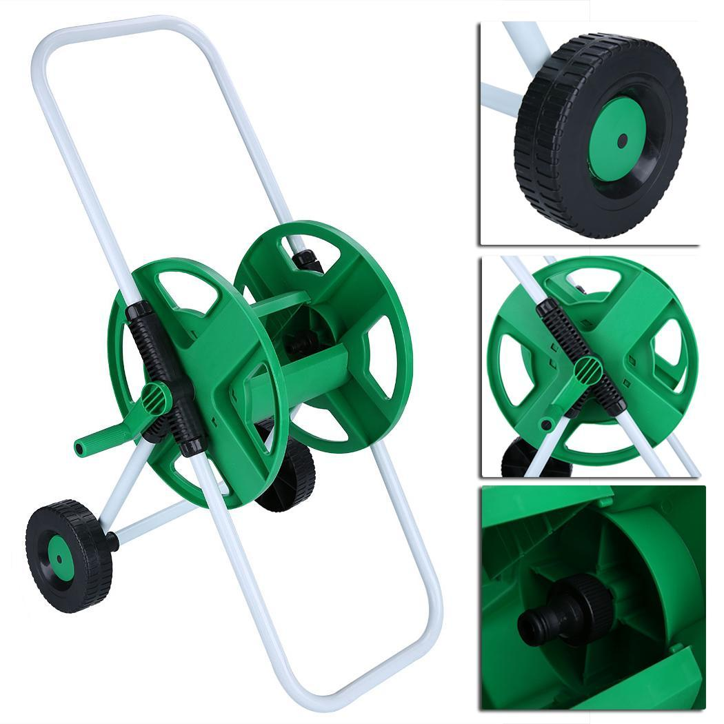 2 wheels hose pipe holder water cart portable hose reel trolley cart for garden yard lawn