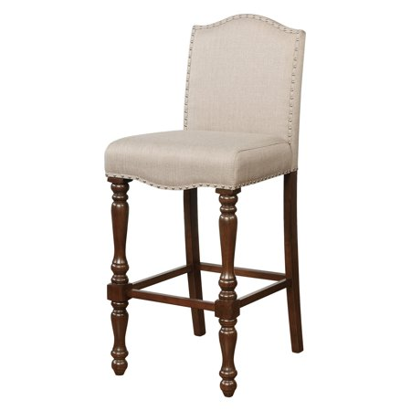 Sensational Linon Willow Bar Stool Brown 30 5 Inch Seat Height Unemploymentrelief Wooden Chair Designs For Living Room Unemploymentrelieforg