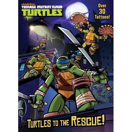 Color Plus Tattoos: Turtles to the Rescue! (Teenage Mutant Ninja Turtles) (Paperback)