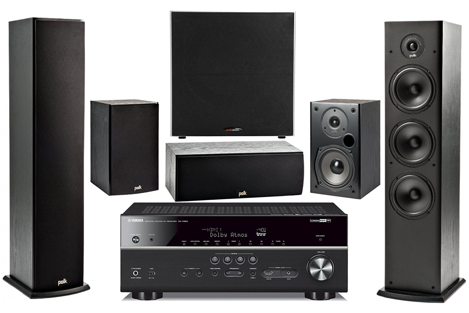 Yamaha 7.2-Channel Wireless Bluetooth 4K 3D A V Surround Sound Multimedia Home Theater System by Yamaha